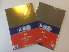 BGC A4 Metallic Gold /Silver Card Pack of 6 Sheets
